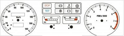 Шкалы приборов для ВАЗ 2108, 2109 и 21099 с высокой торпедой (11 штук)