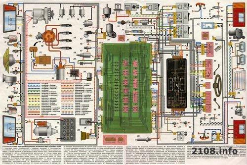 Схема электрооборудования ВАЗ 2108 и 2109