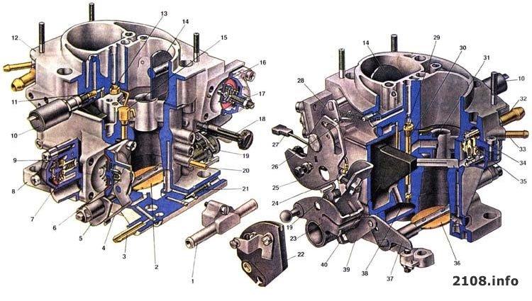 Схема карбюратора солекс 2108 24