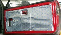 Дверь ВАЗ 2108, оклеенная вибропластом