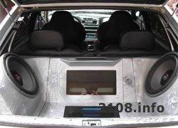 Автозвук в багажнике ВАЗ 2108