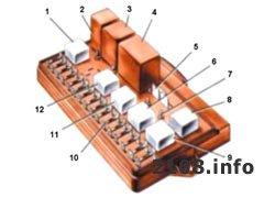 Монтажный блок ВАЗ 2108-2109. Тип 17.3722. Схема