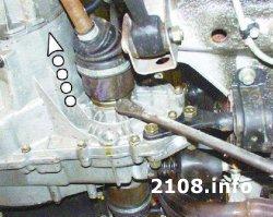 Снятие коробки передач ВАЗ 2108-2109