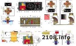 Схема приборной панели ВАЗ 2108-2109 низкая панель