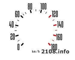Белые шкалы приборов для ВАЗ 2108, 2109 и 21099 с низкой торпедой (3 штуки)