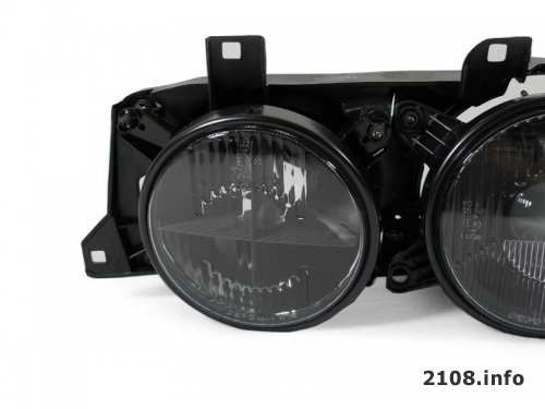 Дымчатые (темные) фары. Hella Black на ВАЗ 2108-2109-21099